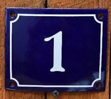 Vintage Style Blue Enamel Porcelain French House Number Door Steel Metal Sign 1