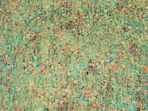 Liberty Fabric 'FLORAL MAWSTON MEADOW - VELVET DEW' 0.9 METRES (90cm) - Velvet