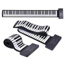Portable Silicon 88 Keys Hand Roll Up Piano USB Keyboard with One Pedal O4I4