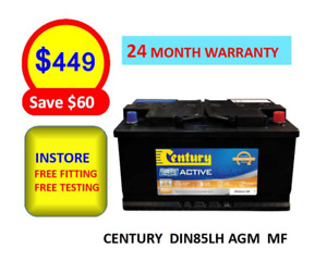 DIN85 LH AGM CENTURY CAR BATTERY AUDI BENZ FORD TOYOTA