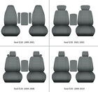 Fits Ford F150 1999-2014 Car Seat Covers Steel Gray Fr Bucket Seatslid Cover