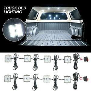 8Pcs  White LED Truck Bed Lighting Light Kit For Chevy GMC Dodge Ram Pick