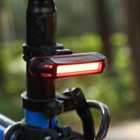 USB Rechargeable 100LM LED Bicycle Rear Taillight Waterproof Warning Light Lamp