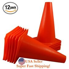 """DH 4.5"""" Plastic Sport Training Cones 12PCS Pitch Marker Traffic Cone Space Field"""