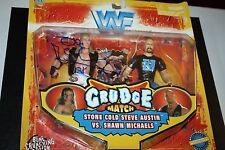 WWE/WWF JAKKS GRUDGE MATCH STONE COLD STEVE AUSTIN & SHAWN MICHAELS SIGNED AUTO!