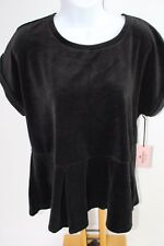 Juicy Counture Velour Black Size L Large Women's Shirt Top NWT NEW $40.00