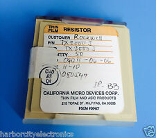 TX2000J CALIFORNIA MICRO DEVICES RESISTOR THIN FILM ROCKWELL 50/units