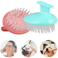 Silicone Head Scalp Comb Brush Shampoo Hair Massager Shower Body Washing Massage