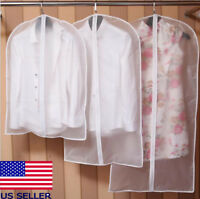 US Plastic Clear Dust-proof Cloth Cover Suit Dress Garment Bag Storage Protector