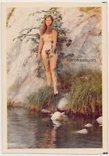 LONG HAIR NUDE HIPPIE NATURE GIRL WOMAN vtg 70's COLOR photo AMATEUR FEMALE