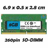 8 GB Mémoire vive RAM DDR4 pour Lenovo T460S Ordinateur Portable
