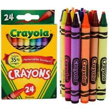 2 PACK CRAYOLA COLOR CRAYONS 24 COUNT MADE IN USA NON TOXIC