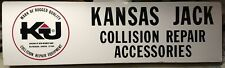 Vintage Kansas Jack Collision Equipment Sign 36 inches x 10 inches
