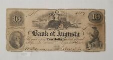 West Point Coins ~ Bank of Augusta $10 July 4th 1850 Georgia