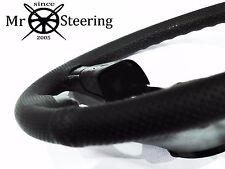 Para Mitsubishi Pajero Di-D Volante Cubierta de cuero perforado doble puntada