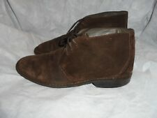 CLARKS FLEX24 MEN'S BROWN SUEDE LEATHER LACE UP ANKLE BOOT SIZE UK 10 EU 44 VGC