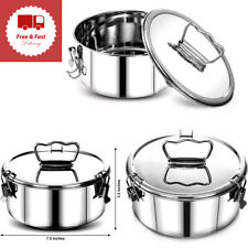 Stainless Steel Flan Mold Lid Easy Lift Handle Steamers Instant Pot Accessories