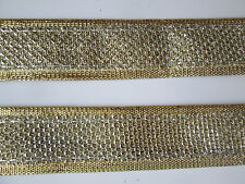2 Meter Spitze Steine Nichtelastisch Gold Beige Braun Borte 1,5cm BB 560 N