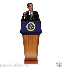 US President Barrack Obama Podium CARDBOARD CUTOUT standee standup C956
