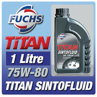 FUCHS TITAN SINTOFLUID 1 LITRE 75W-80 GEAR OIL CAR SINTO FLUID for GEARBOX