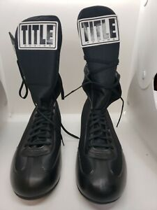 Title Boxing Speed Flex Encore Tall Shoes Black Size 12 (EU46)