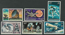 ASCENSION 1971 SPACE 71/2P TO 1 POUND MNH 8**