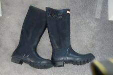 Hunter wellies size 5. tall, blue Scottish original. never worn