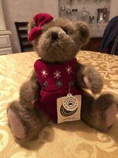 Boyds Bears Gwen Marie 12� Plush Bear Winter Christmas Snowflakes Wearing Red