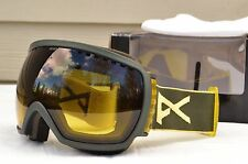 2014 MENS ANON COMRADE SNOWBOARD GOGGLES $150 Trench/Yellow Gradient USED
