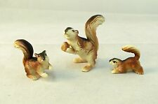 Vintage 1960's  Mama Squirrel with Babies Small Plastic Figures