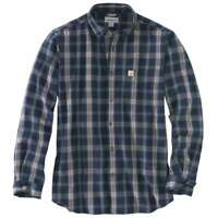 Carhartt 103351C - Essential Plaid Shirt - Navy 412