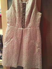 Miss Selfridge Silver Metallic Dress Size 12