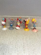 1989  WENDY'S   KIDS  MEAL  TOYS  LOT OF 5   MIGHTY MOUSE   SUCTION CUP  FIGURES