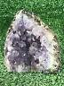 "3.5"" Amethyst Cluster Geode Crystal Quartz Natural Stone"