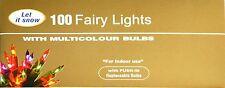 Las bombillas tradicionales de 100 Multi Color Luces de Navidad Fantasía Decoración de árbol de Navidad