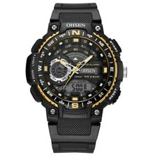 OHSEN AD1705 Digital Watch Dual Display Multifunction LED Sport Swimming Men