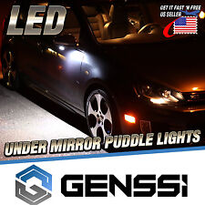 for Ford Lincoln Side Rear View Mirror Bottom Puddle Light Bulb Lamp (Pack of 2)
