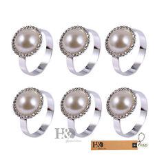 12 Crystal Metal Napkin Ring Serviette Holder Wedding Banquet Dinner Decor Favor