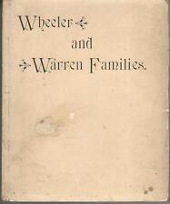 Wheeler and Warren Families Genealogy History George Thomas  John Ebenezer