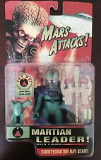 1996 Tim Burton Mars Attacks Martian Leader Action Figure Rare - Sealed!