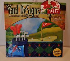 Golf Yard DeSigns Mailbox Address Marker Insert Magnet Golfers New Free Ship