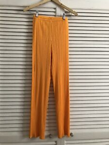 Issey Miyake Pleats Please Pants Yellow Orange Size 2