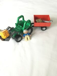 Lego Duplo 4687 Tractor Trailer 100% complete without box