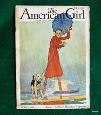 VINTAGE  GIRL SCOUT - 1933 AMERICAN GIRL - APRIL
