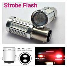 Red Strobe Front Signal Light 1157 2057 3496 7528 BAY15D P21/5W 33 LED B1 AU