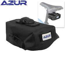 Azur Waterproof Eco Bike Saddle Bag w/QR Clip Black 0.7L 13x8.5x6cm