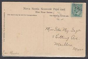 Canada - Jun 21, 1908 Crowel, NS Split Ring Cancel on Domestic Card