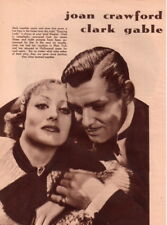 Joan Crawford Clark Gable Clipping Magazine photo 8x10 1pg orig F11749