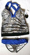 Athena SnakeSkin Print with Blue Size 12 Tankini Set Retail $116