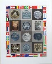 Sir PETER BLAKE RA b1932 Limited Ed SCREENPRINT Great North Run / Medals ed.75
